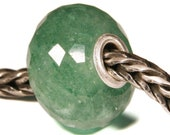 Gemstones by Anne Meiborg - Artisan europian charm bead -  small core - BHB - Green Strawberry Quartz - 10948