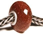 Gemstones by Anne Meiborg - Artisan europian charm bead -  small core - BHB - Sunstone - 11227