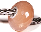 Gemstones by Anne Meiborg - Artisan europian charm bead -  small core - BHB big hole - Peach Moonstone - 10544