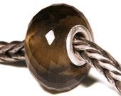 Gemstones by Anne Meiborg - Artisan europian charm bead -  small core - BHB - Smoky Quartz - 11252