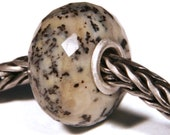 Gemstones by Anne Meiborg - Artisan europian charm bead -  small core - BHB - Dendritic Agate - 10994