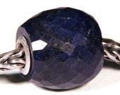 Gemstones by Anne Meiborg - Artisan europian charm bead small core - BHB - Sapphire Corundum - 10795