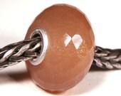 Gemstones by Anne Meiborg - Artisan europian charm bead -  small core - BHB big hole - Peach Moonstone - 10531