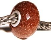 Gemstones by Anne Meiborg - Artisan europian charm bead -  small core - BHB - Sunstone - 11219