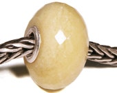 Gemstones by Anne Meiborg - Artisan europian charm bead -  small core - BHB - Yellow Opal - 11330