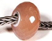 Gemstones by Anne Meiborg - Artisan europian charm bead -  small core - BHB big hole - Peach Moonstone - 10537