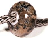 Gemstones by Anne Meiborg - Artisan europian charm bead -  small core - BHB - Dendritic Agate - 10491