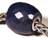 Gemstones by Anne Meiborg - Artisan europian charm bead small core - BHB - Sapphire Corundum - 10810