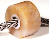 Gemstones by Anne Meiborg - Artisan europian charm bead -  small core - BHB - Fossil - 10736