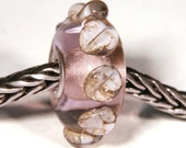 Lampwork by Anne Meiborg - Artisan charm bead small core - BHB glass bead -Pink - 10288