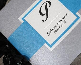 Platinum Sky Pocketfold Wedding Invitation