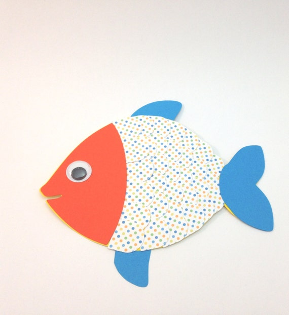 Fish Ocean Sea Animal Craft Kit For Kids Birthday Party Favor Decoration Arts And Crafts Stocking Stuffer Or Scrapbooking
