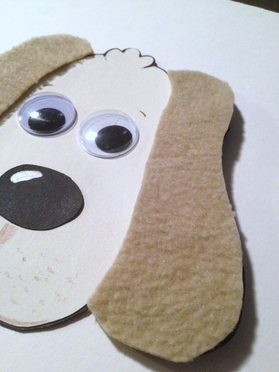 Dog With Fuzzy Ears Animal Craft Kit For Kids Birthday Party