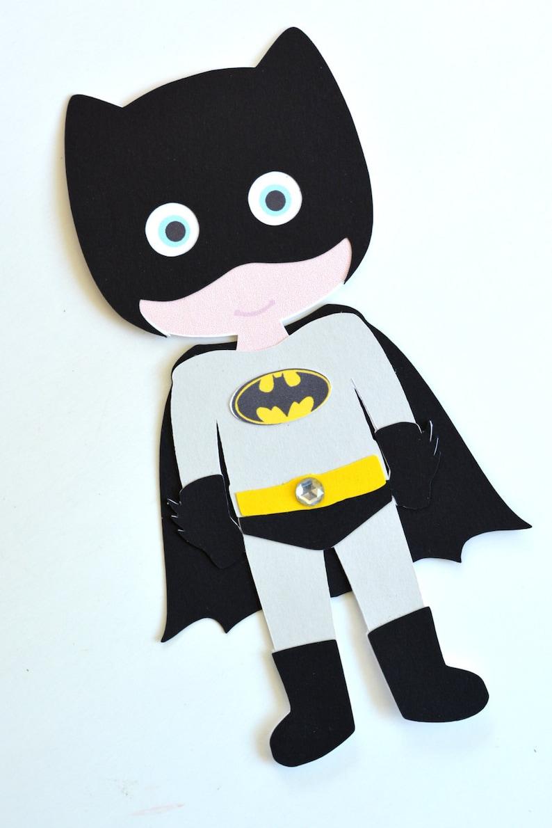Batboy Superhero Craft Kit For Kids Birthday Party Favor Etsy