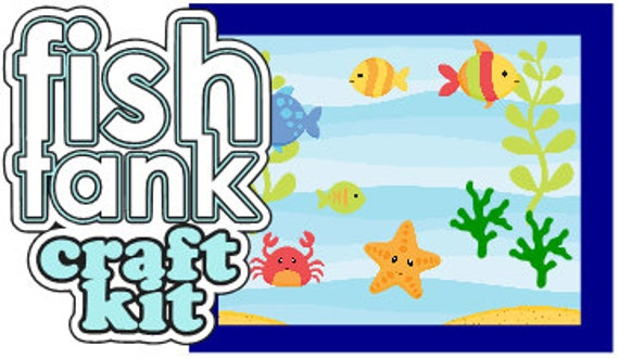 Fish Tank Ocean Sea Animal Craft Kit For Kids Birthday Party Favor Decoration Arts And Crafts Stocking Stuffer Or Scrapbooking