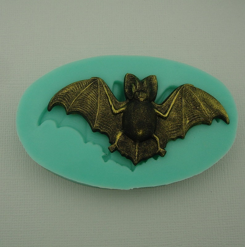 Silicone Mold  Bat Jewelry Making Resin Polymer Clay.