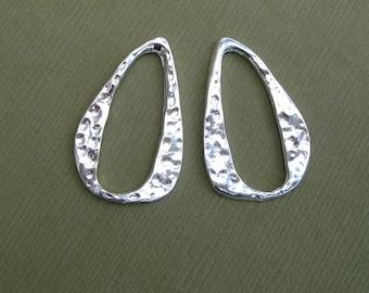 20pcs- Silver Plated  Drop  Pendant.