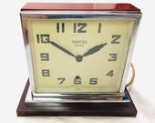 Art Deco Twinface Electric Two Sided Bedroom Clock 1930 39 s ref 20707