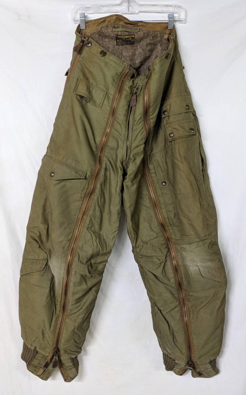 1940s Mens Ties | Wide Ties & Painted Ties Vintage 1940S Wwii Army Air Force Mens 32 Flight Mouser Intermediate Flying Wool Pile Lined Trouser Pants Stagg Garment Company Ref 19573 $0.00 AT vintagedancer.com