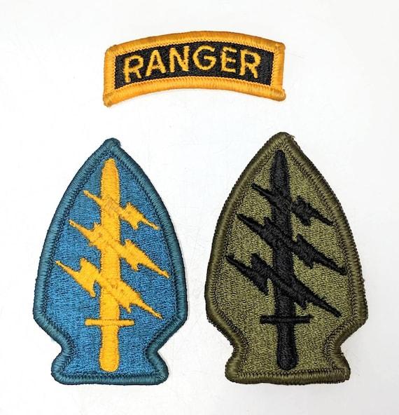 4de711349e 3 Patches Ranger US Army Special Forces Green Beret Shoulder