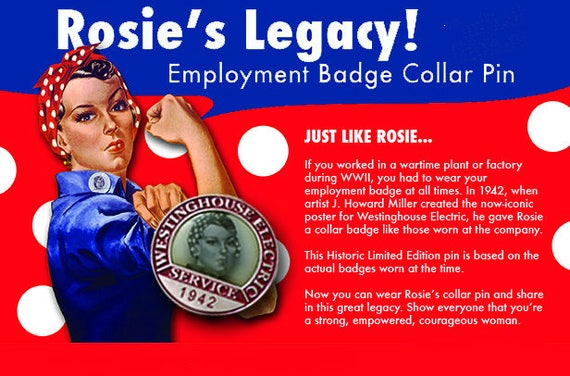 Limited Availability Rosie The Riveter Pin Rosie The Riveter Etsy