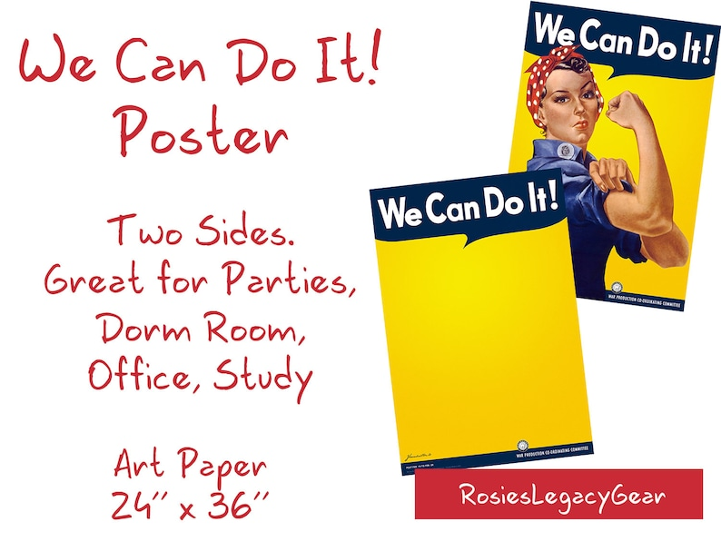 ROSIE the RIVETER We Can Do It Poster 24 x image 0