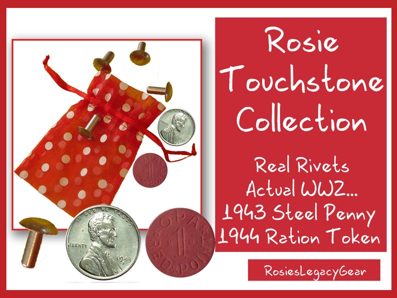 Rosie the Riveter WW2 TOUCHSTONE COLLECTION. Authentic Rivets image 0