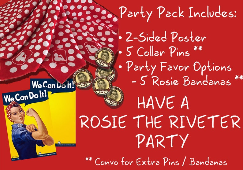 ROSIE the Riveter Party Kit We Can Do It Party image 0