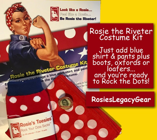 48 Hour Sale Rosie The Riveter Halloween Costume Accessories Etsy