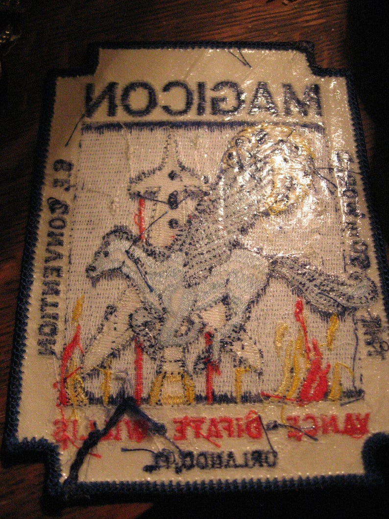 1992 Science Fiction Convention Orlando FL USA Sewn Patch Magicon Jacket Patch
