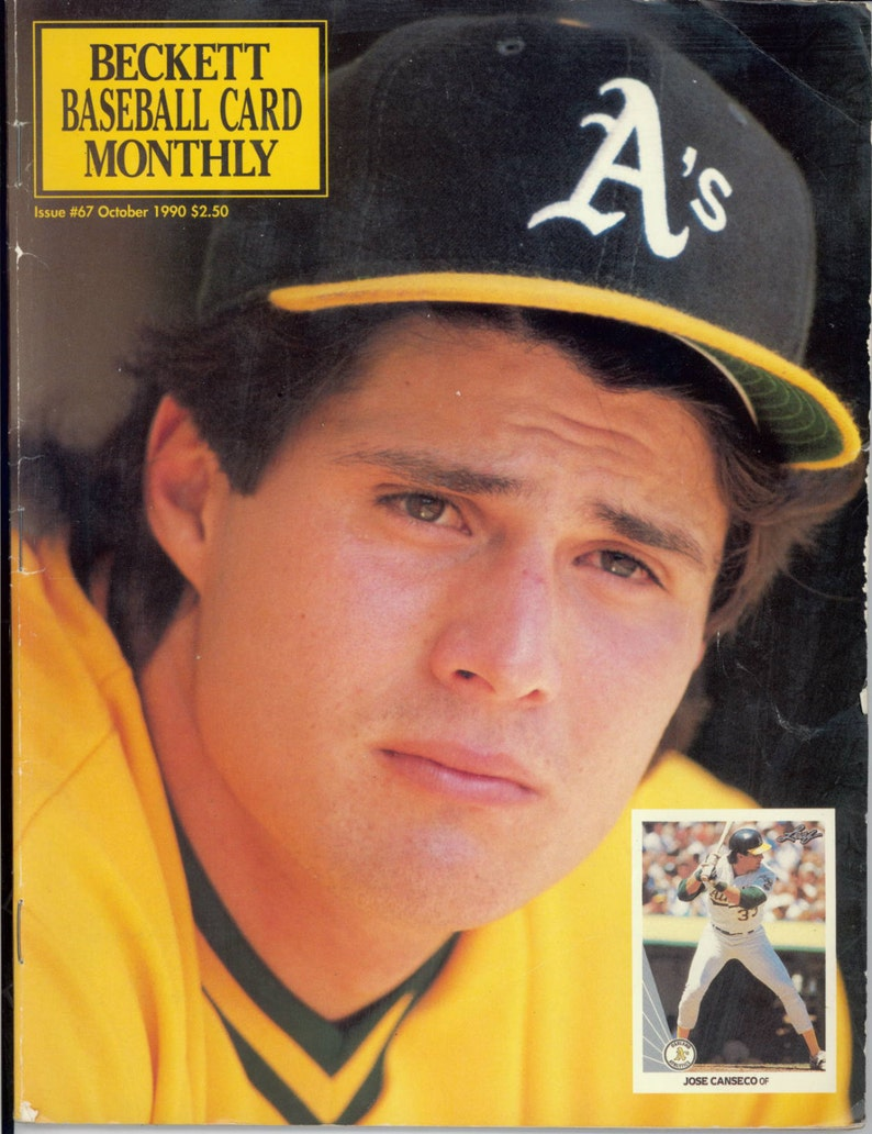 Jose Canseco As Mag Vintage October 1990 Beckett Baseball Card Monthly Magazine Collector Gregg Jefferies Mlb Magazine Free Usa Shipping