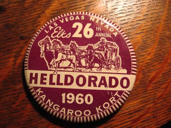 Elks Club Vintage Lapel Pin 1960 Las Vegas Nevada Usa Etsy