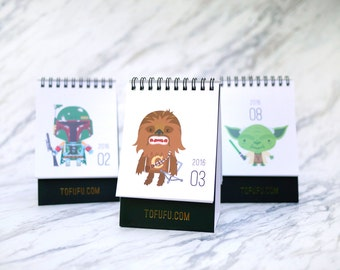 2016 Calendar Star Wars : Gift Idea & Office Decor for Sci-fi Lovers // Desktop Calendar