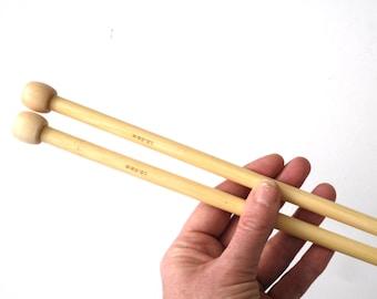 8 - 10mm Knitting needles , bamboo needles 35 cm long , single pointed needles  , knitting tool , giant needles , extreme knitting