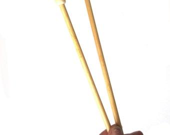 6 - 7.5 mm Knitting needles , bamboo needles 35 cm long  , knitting tool , 6mm 7mm  needles , knitting accessory , single pointed needles