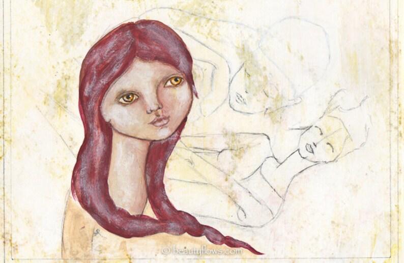 Woman feeling her inner Male and Female Guru Meditation image 0