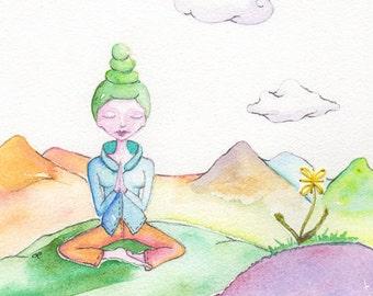 Prayer, Meditation, Pastel World, Photographic Art Print or Greeting Card