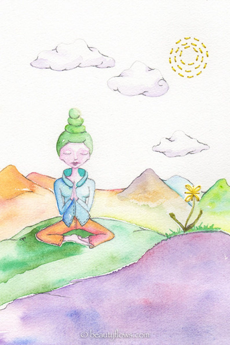 Prayer Meditation Pastel World Photographic Art Print or image 0