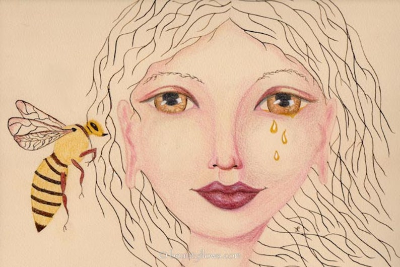 Honey Bee said to Me Bee and Goddess Honey Tales Bee Totem image 0