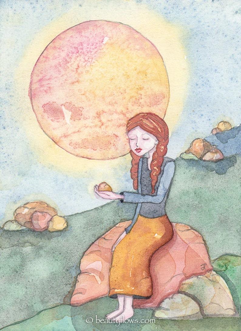 She Loves Rocks Meditating Yogini Spiritual Art Montana image 0