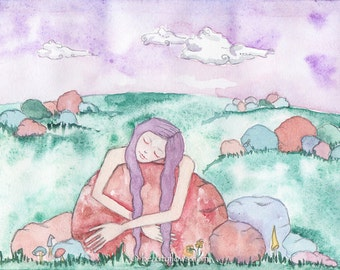I Love Rocks, She Adores Rocks, Montana Rocks, Rock Hound, Greeting Card or Photographic Art Print