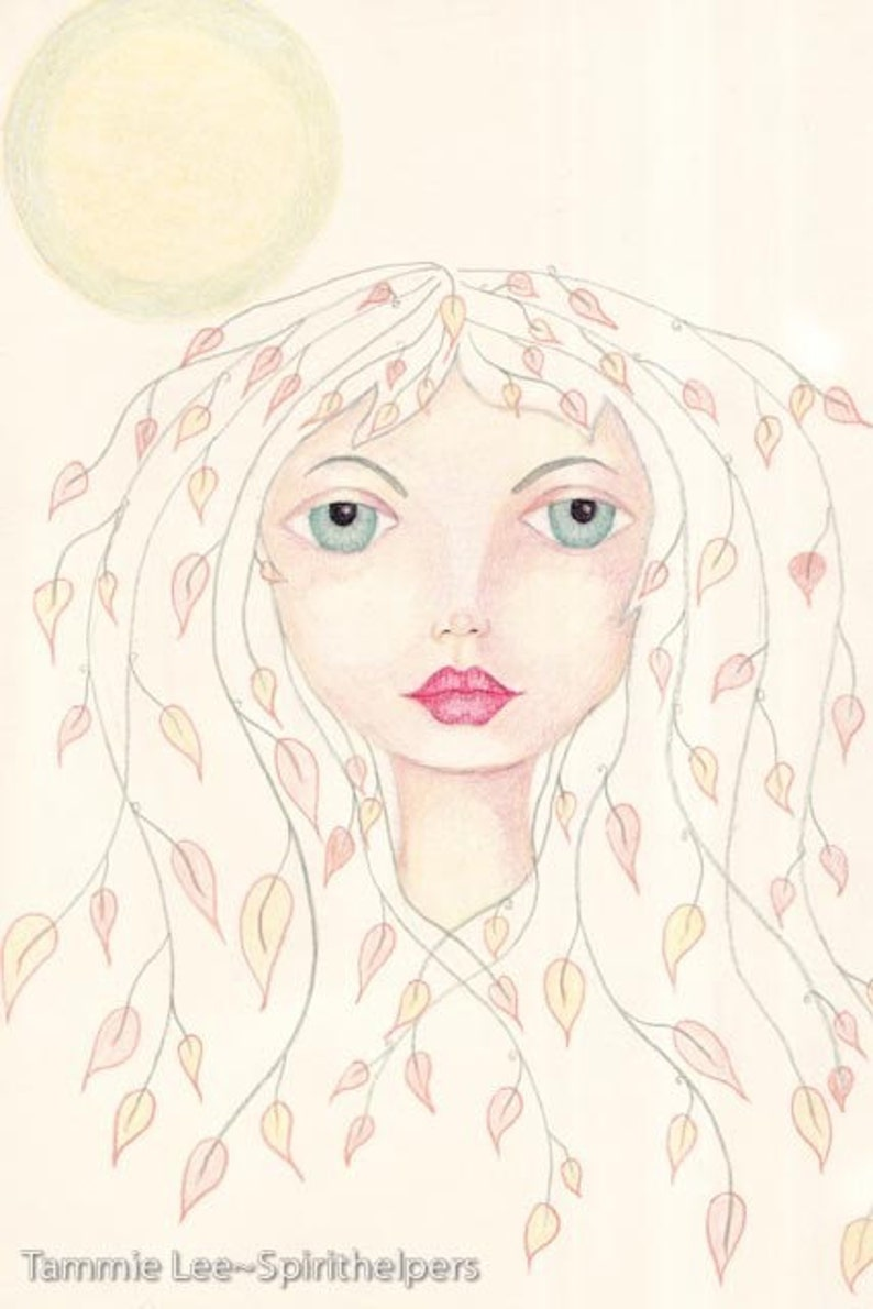 Autumn Goddess Lady Mabon Hair of Leaves Nature Goddess image 0