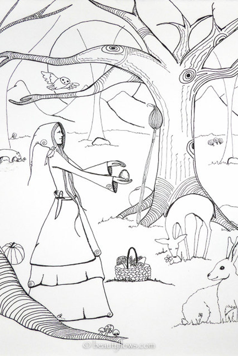 Wood Witch Forest Herbalist Lady of the Woods Friend of the image 0