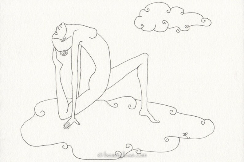 Yogini crescent moon pose  Greeting Card or Photographic Art image 0