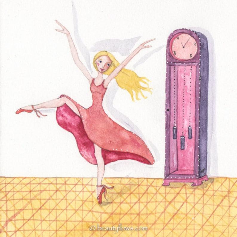 Dancer Ballerina Grandfather Clock Music OOAK Original image 0