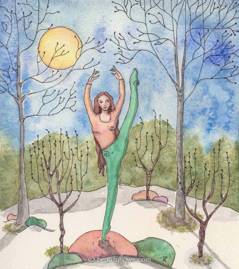 Celebrate Spring Original Painting OOAK Magical Spring image 0