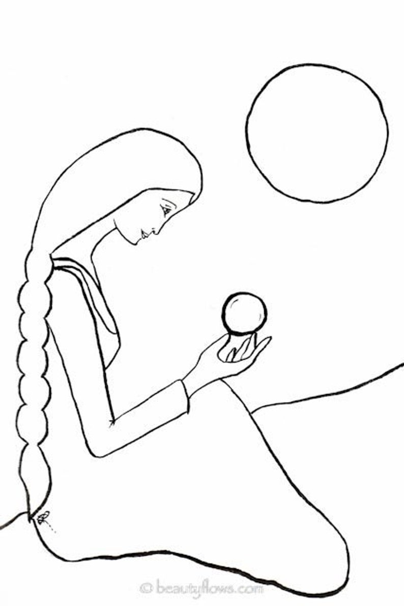 Fortune Teller Crystal Ball Visionary Woman Divine image 0