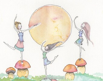 Celebrating King Boloetes, Porchini, Ceps, Penny Buns, a Delicious Edible Mushroom, OOAK, original watercolor painting