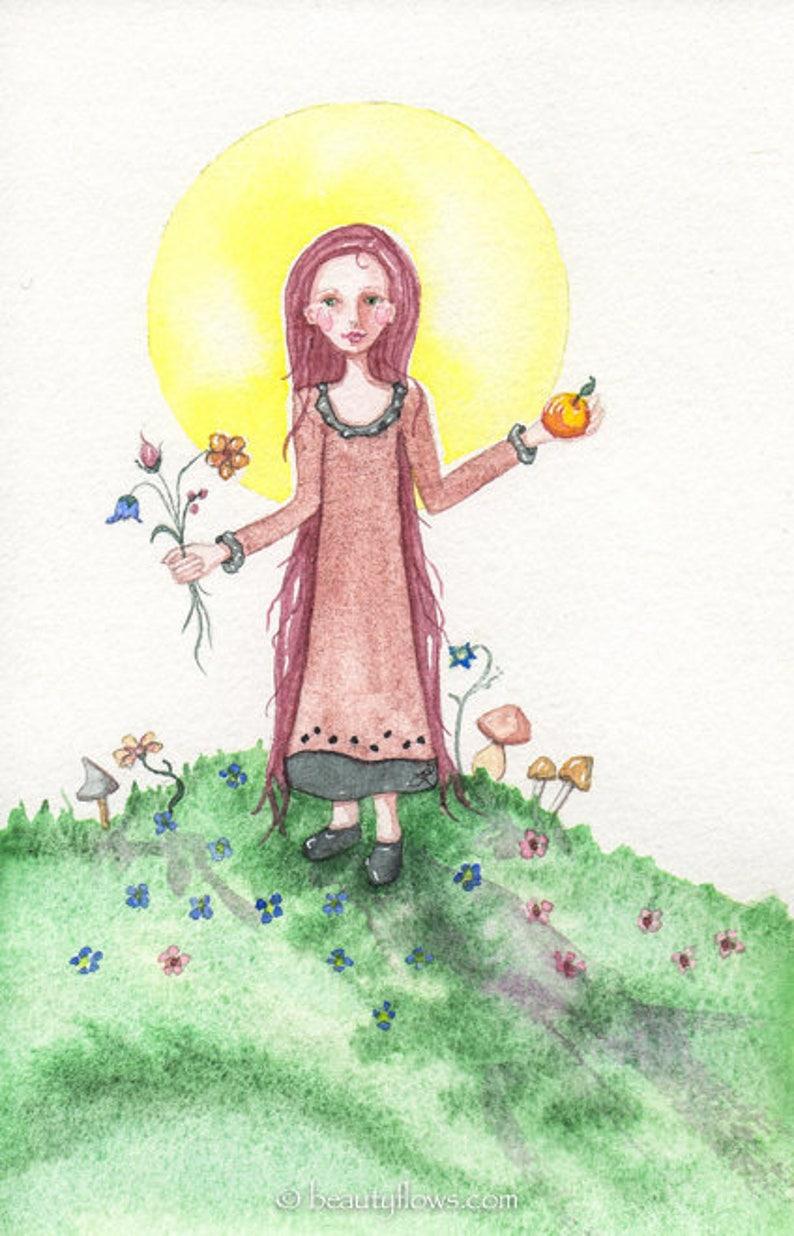 Celebrating Summer OOAK Original Watercolor Painting image 0