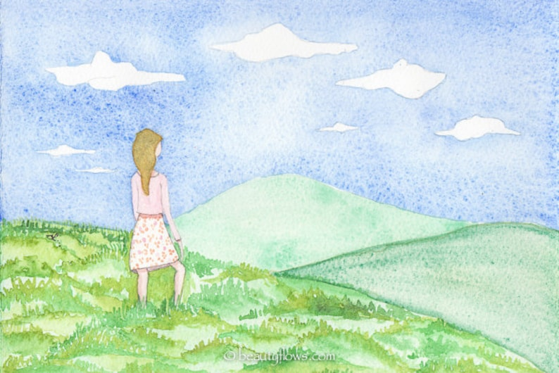 Beckoning Hills A lovely Day Greeting Card or Art Print image 0